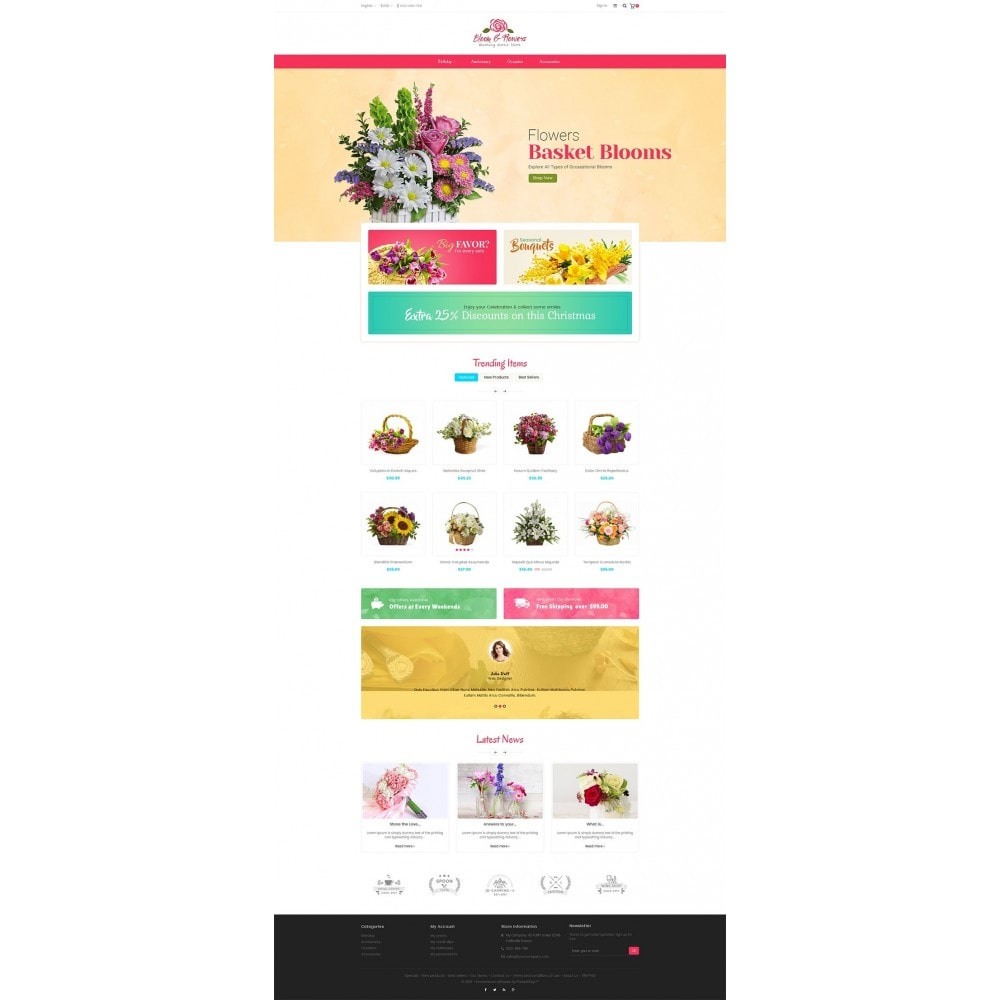 theme - PrestaShop Szablony - Bloom Flower Store - 2