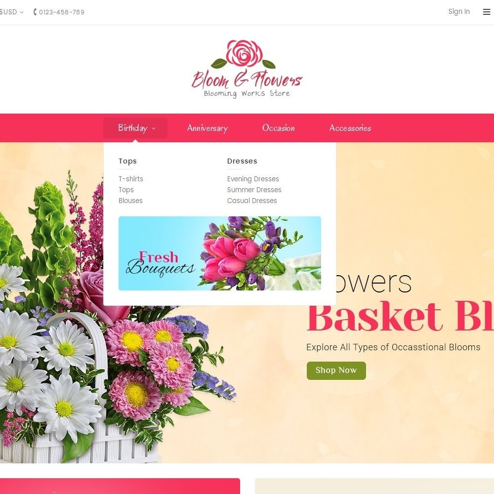 theme - PrestaShop Themen - Bloom Flower Store - 8