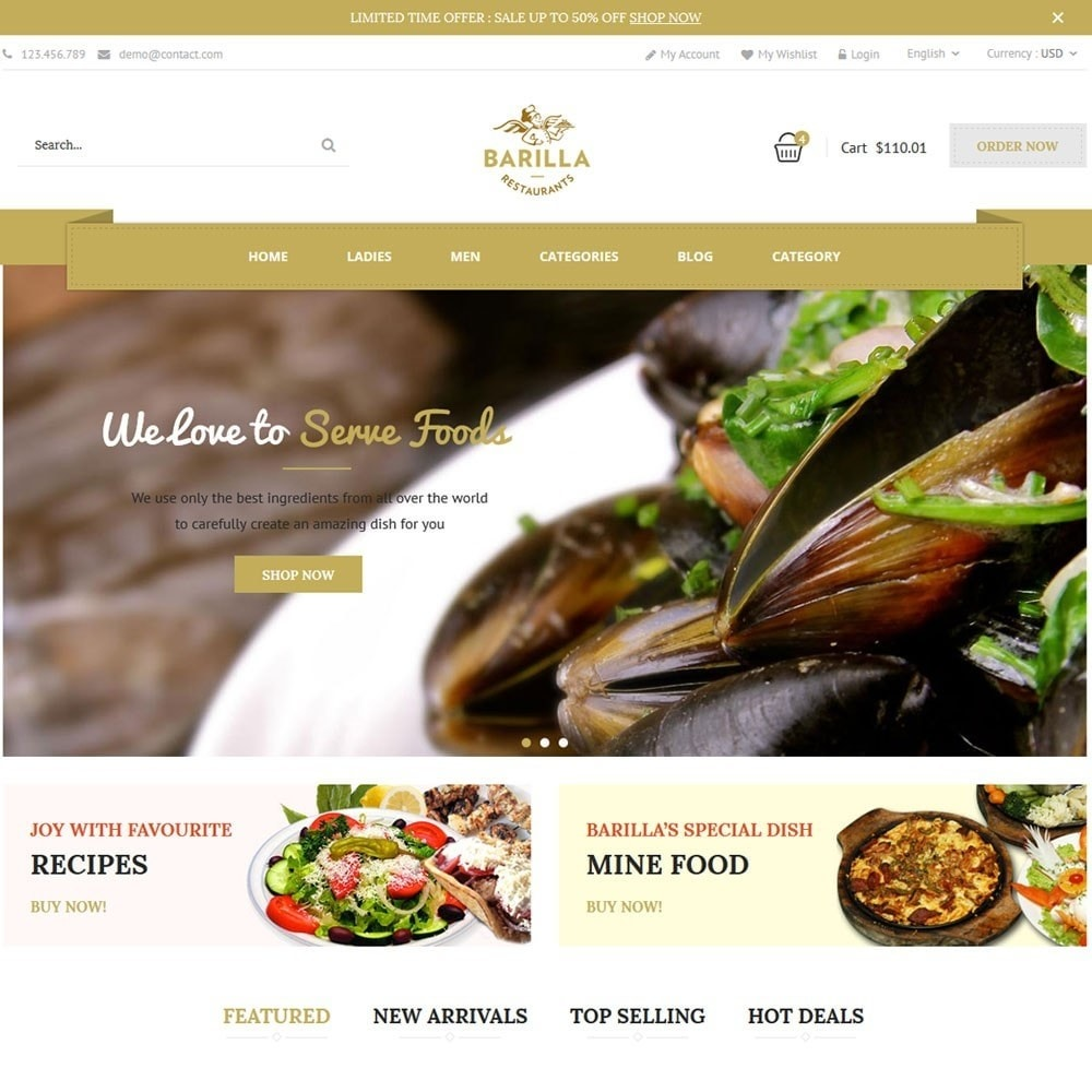 theme - Eten & Restaurant - Barilla Food Store - 1