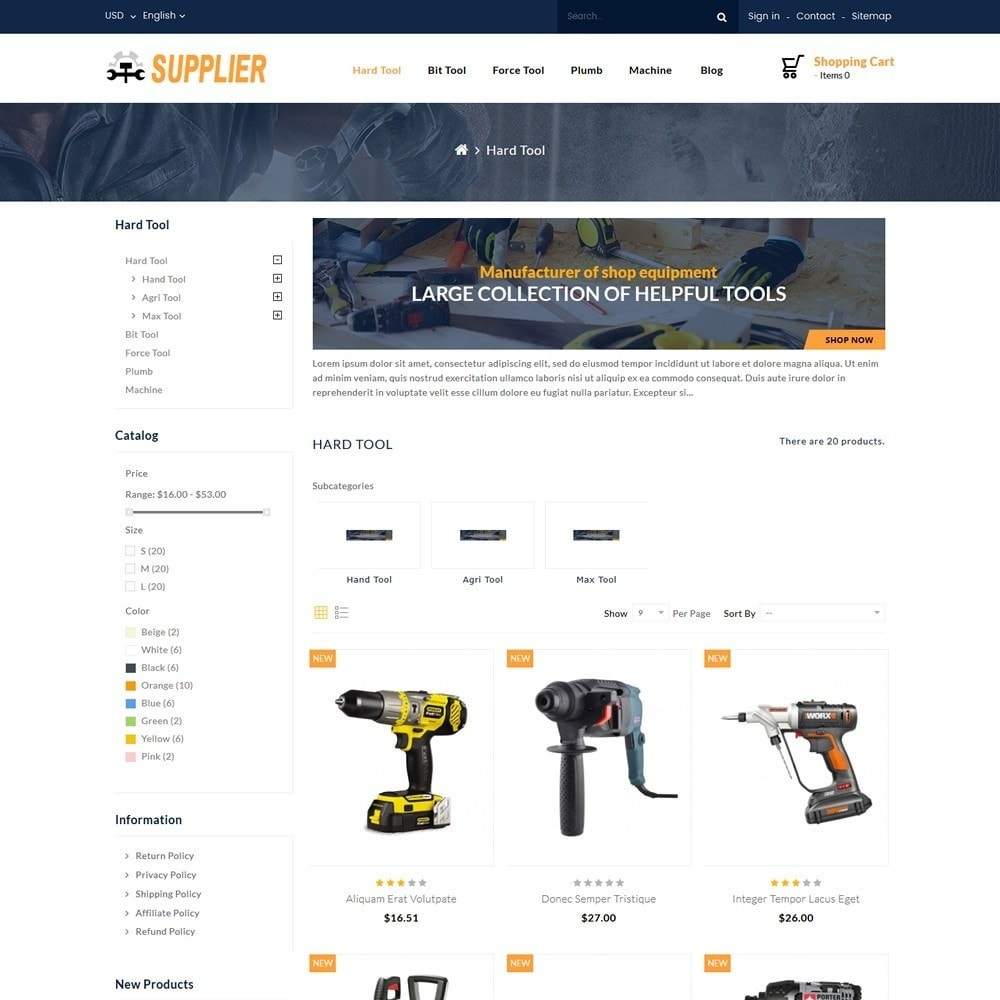 theme - Automotive & Cars - Supplier Tools Store - 3