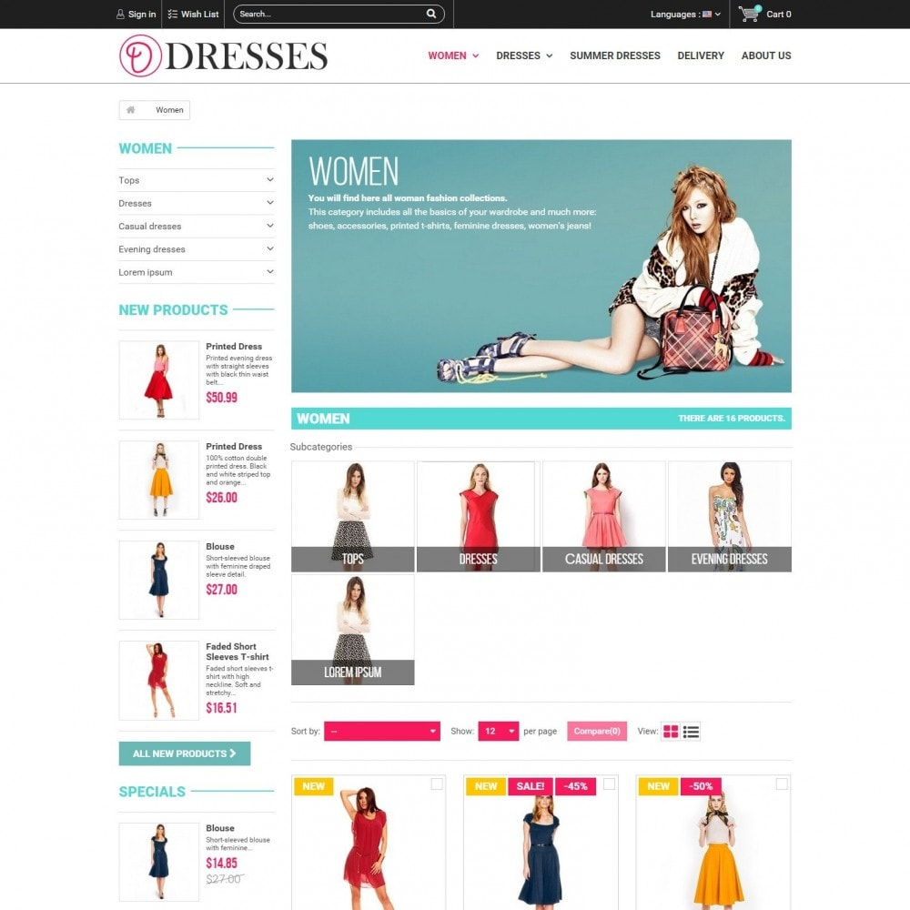 theme - Mode & Chaussures - Clothes  -  Magasin de Vêtements - 2