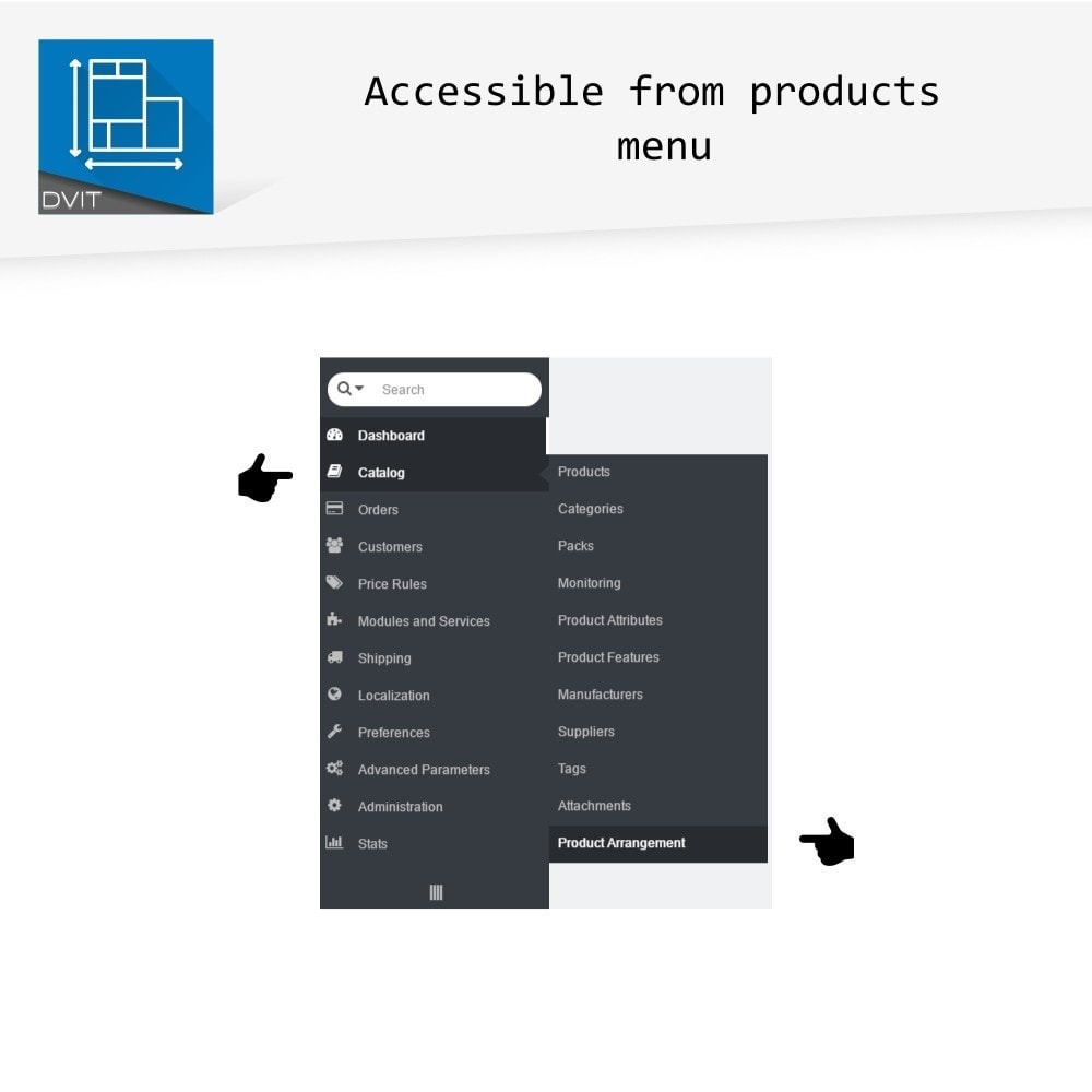 module - Page Customization - Product Arrangement - 12