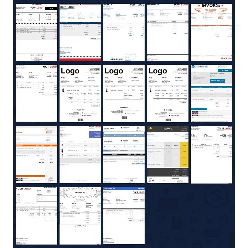 module - Buchhaltung & Rechnung - Erweiterte Rechnung & Lieferung PDF Template Builder - 2