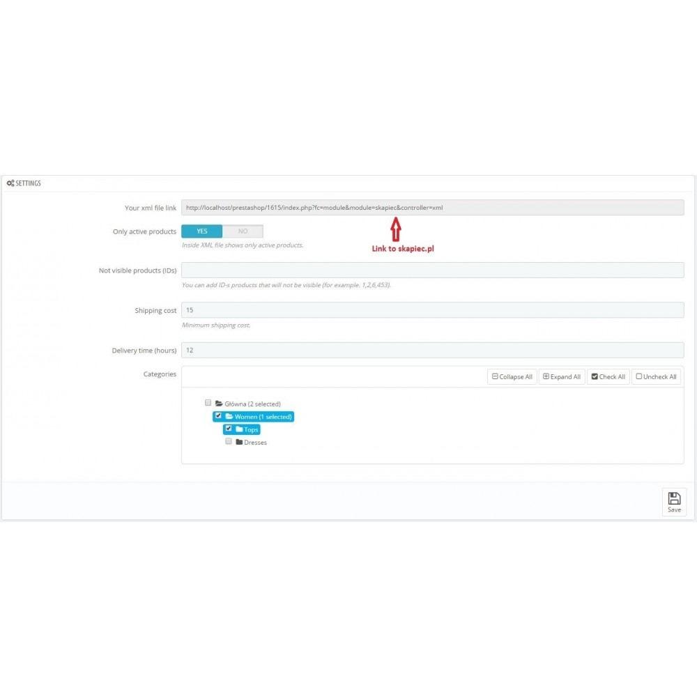 module - Prijsvergelijkers - Skapiec.pl integration - 3