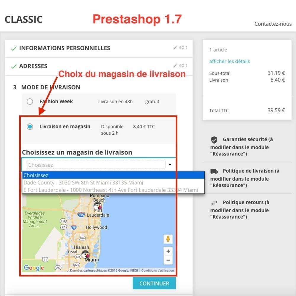 module - Point Relais & Retrait en Magasin - Livraison en magasin / Point de retrait - 1