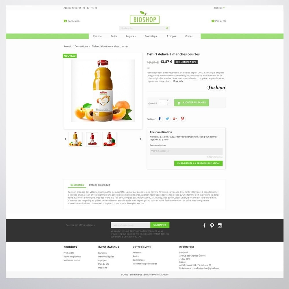 theme - Health & Beauty - Bioshop - 2