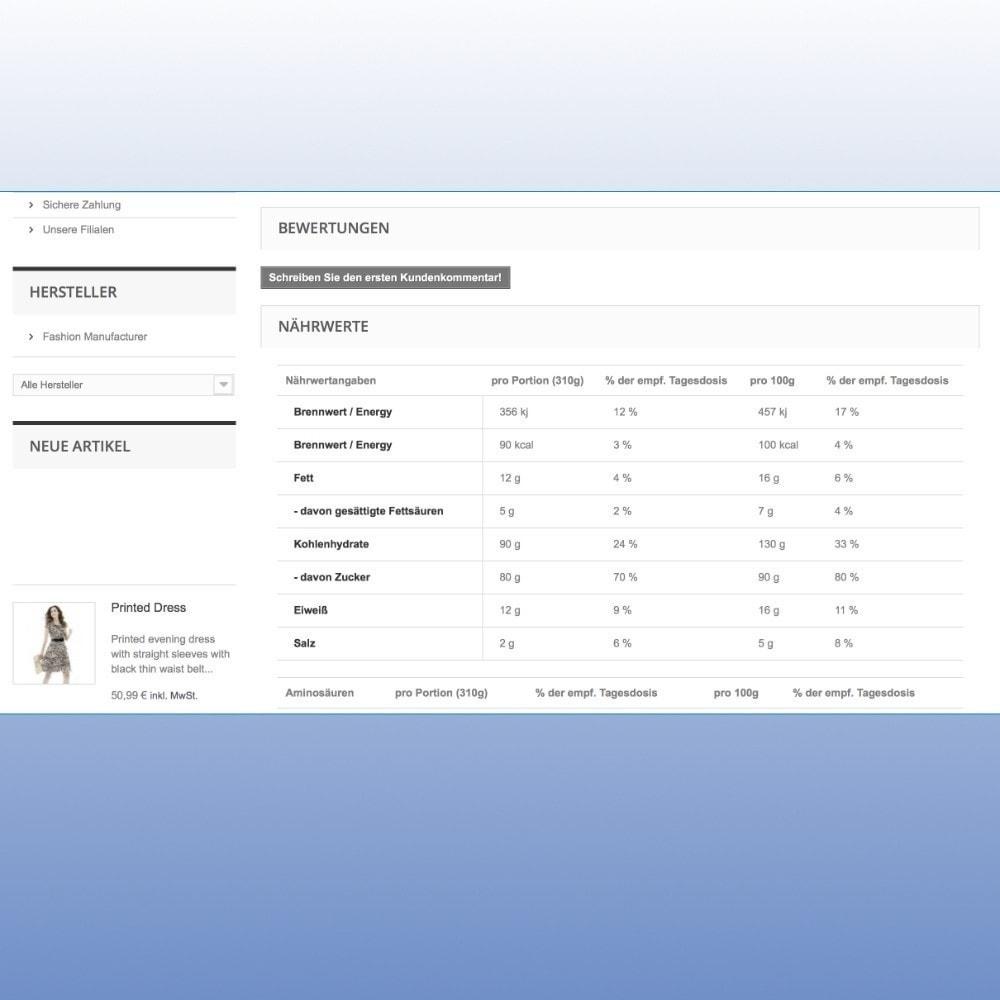 module - Lebensmittel & Restaurants - Nährwert- und Kalorientabelle nach LMIV - 4