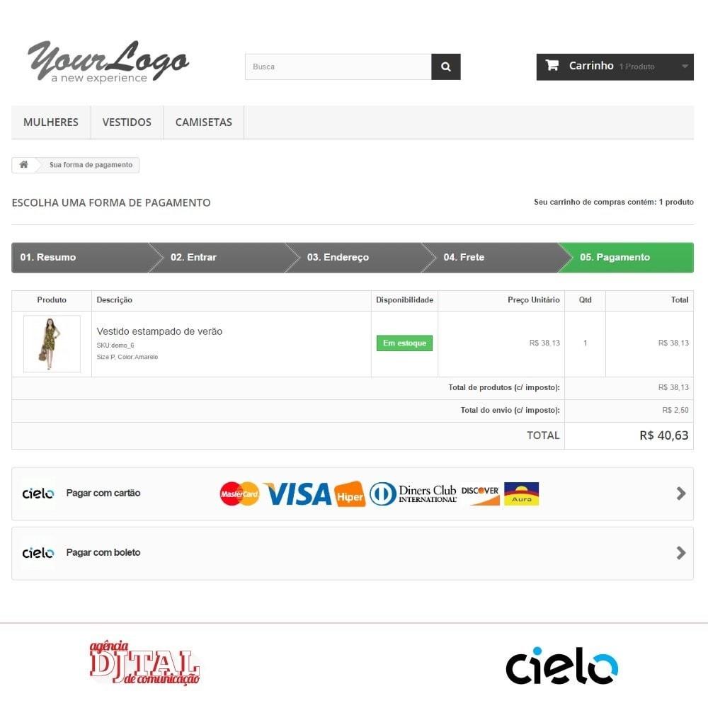 module - Pagamento por cartão ou por carteira - Checkout Cielo Transparente e Integrado - 3
