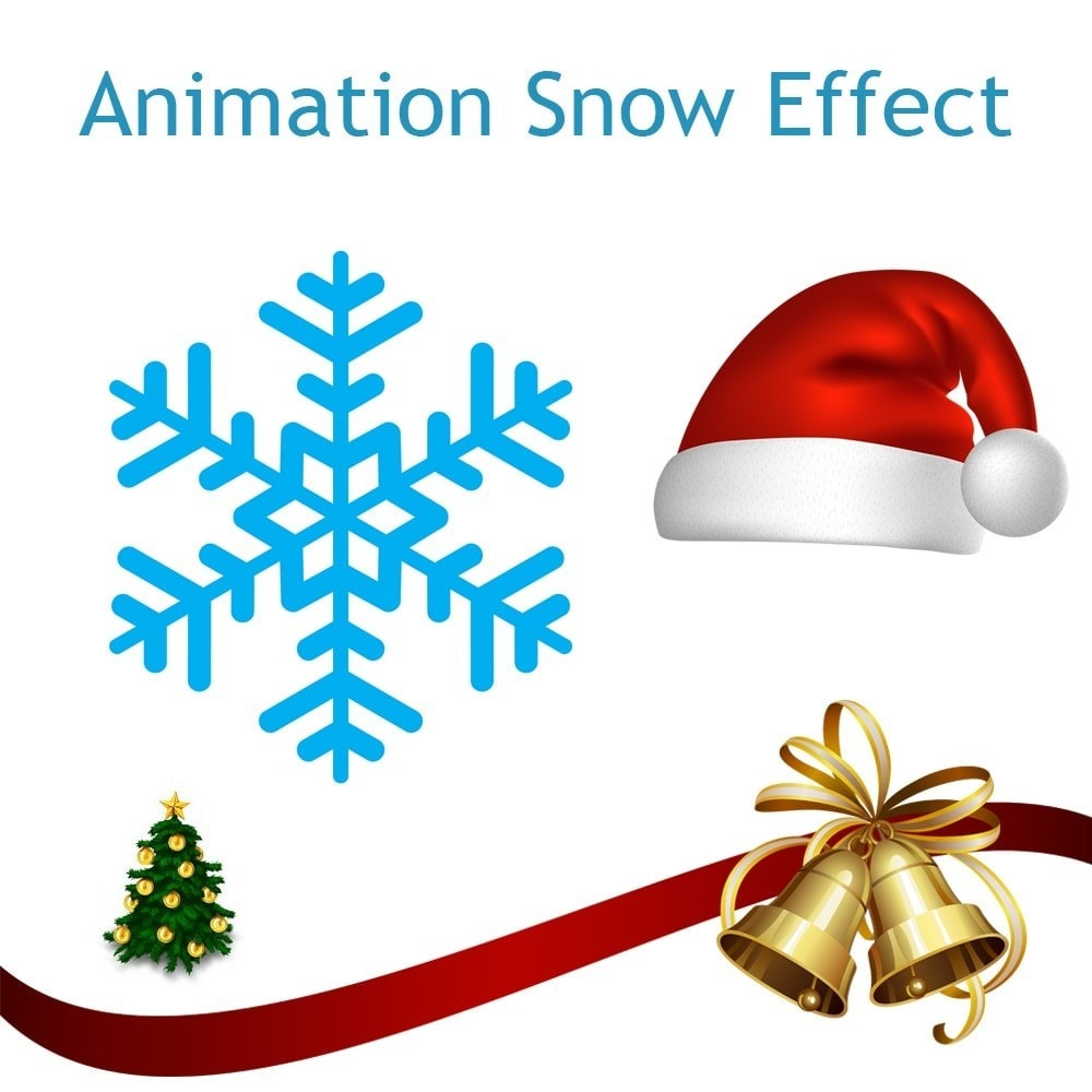 module page customization snow effect christmas new year holidays 1