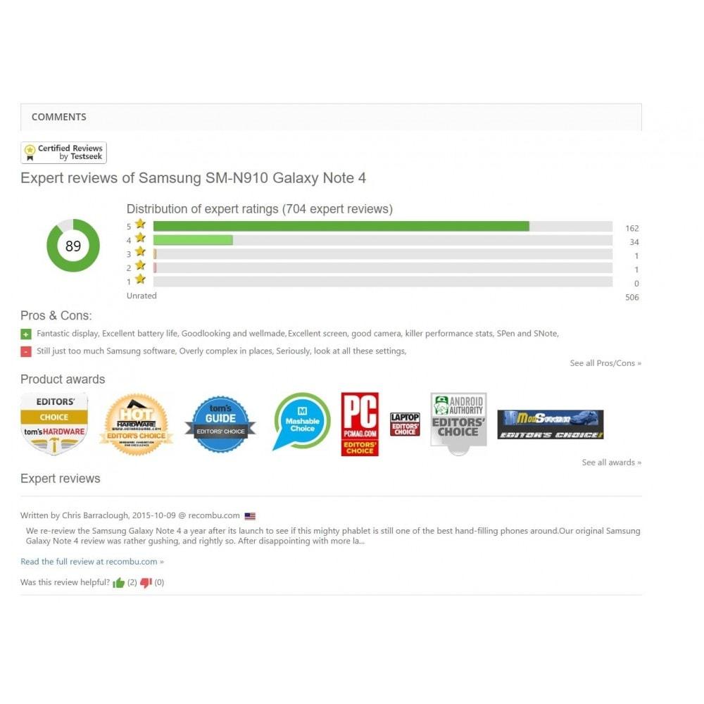 module - Recensioni clienti - Testseek reviews - 2