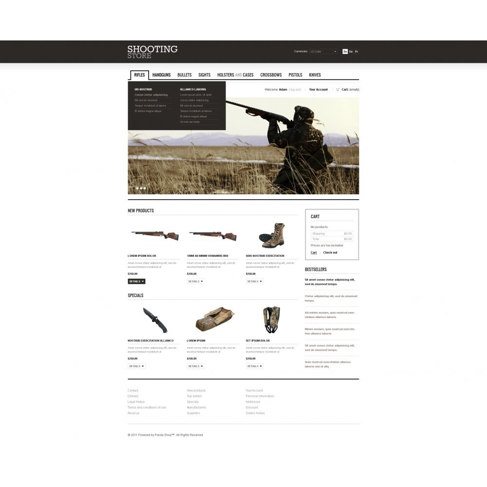 theme - Thèmes PrestaShop - Shooting Store - 7
