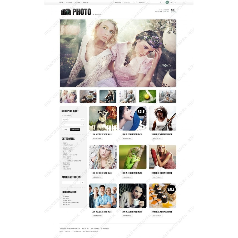 theme - PrestaShop Szablony - Art & Photo Gallery - 6