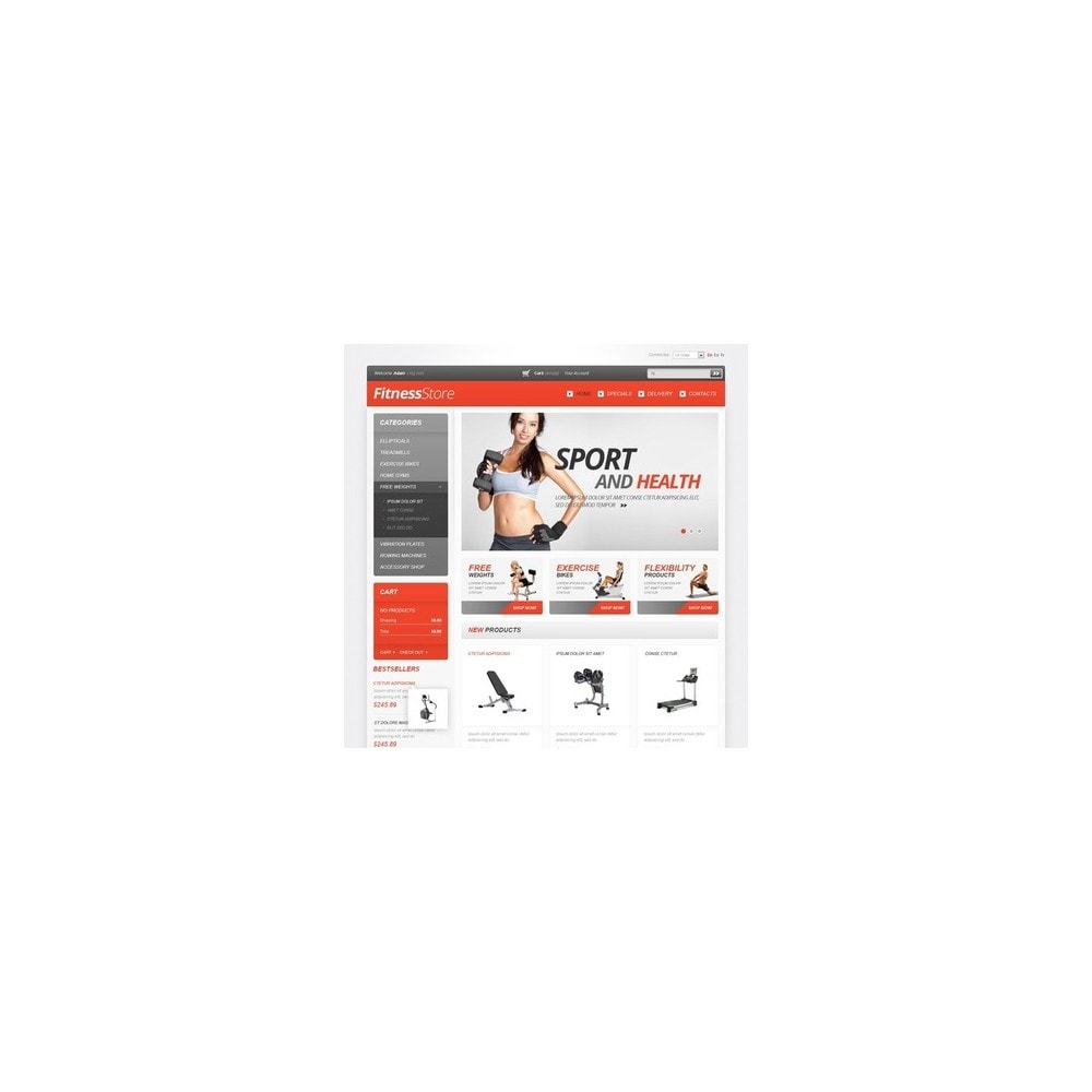theme - Спорт и Путешествия - White Fitness PrestaShop Theme by Hermes - 5