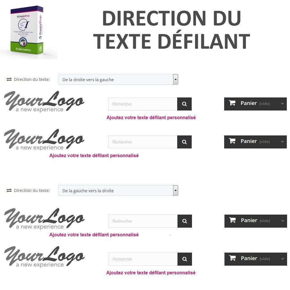 module - Blocs, Onglets & Bannières - Texte Défilant avec Lien pour En-Tête - 4
