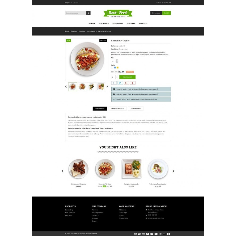 theme - Food & Restaurant - Best Real Food Store - 5