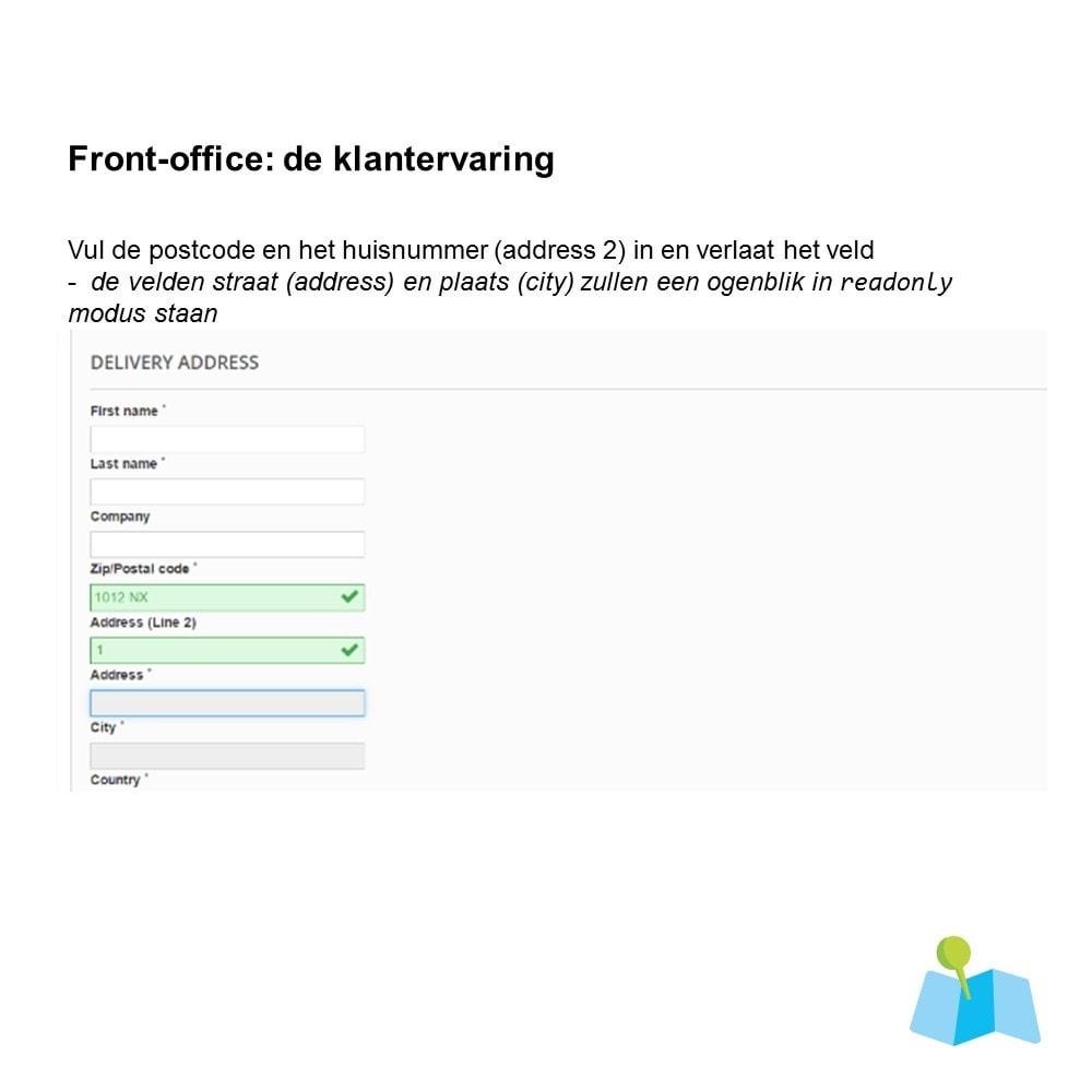 module - Registratie en Proces van bestellingen - Auto Adres Aanvullen o.b.v. Postcode en Huisnummer - 1