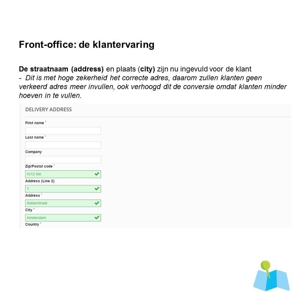 module - Registratie en Proces van bestellingen - Auto Adres Aanvullen o.b.v. Postcode en Huisnummer - 2