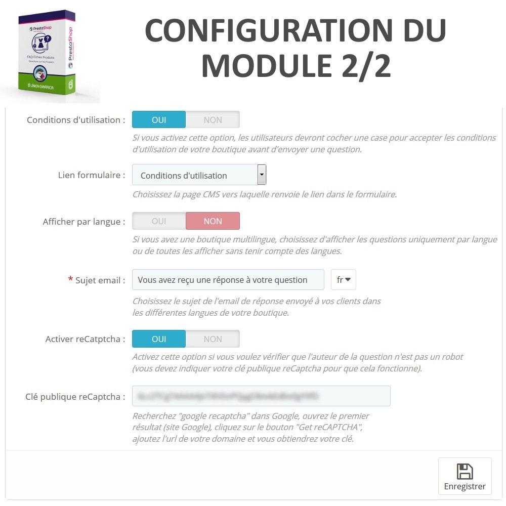 module - FAQ (questions fréquentes) - FAQ Fiches Produits - Foire aux questions fréquentes - 3