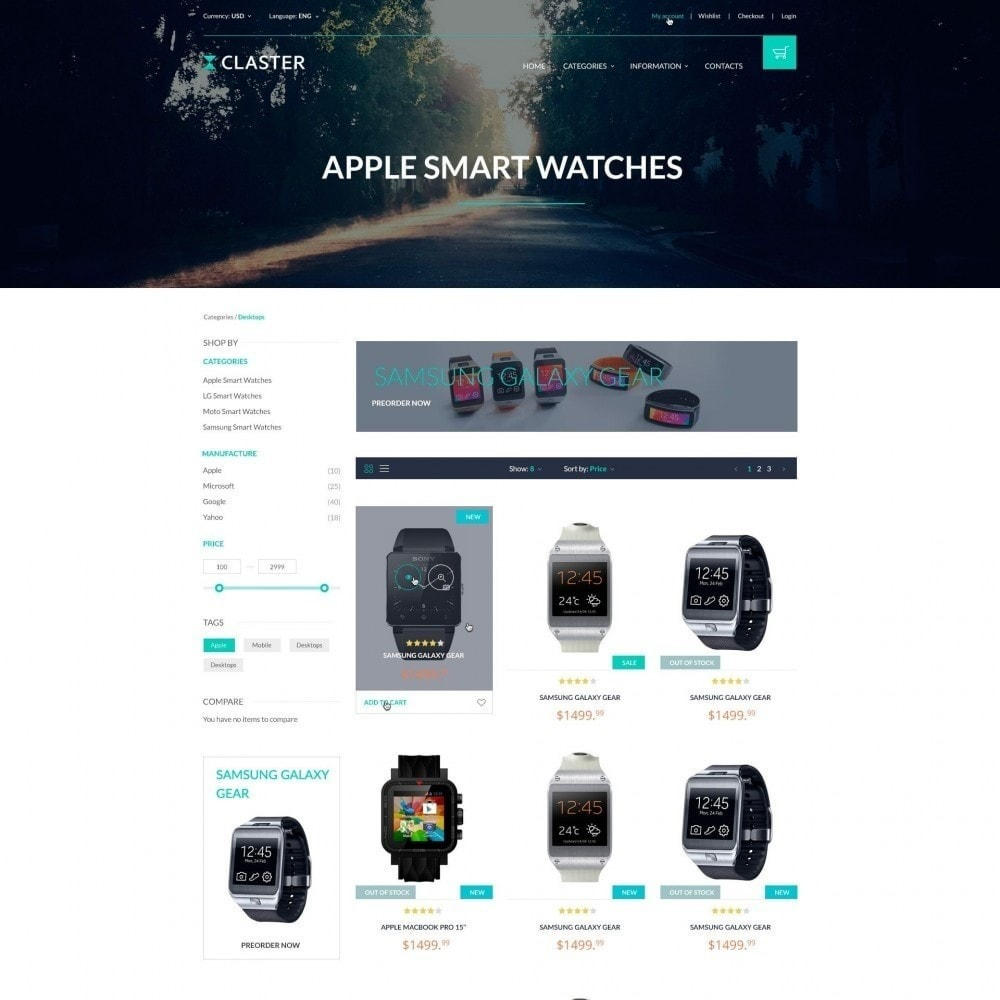 theme - Электроника и компьютеры - Claster - Shop of Watches - 3