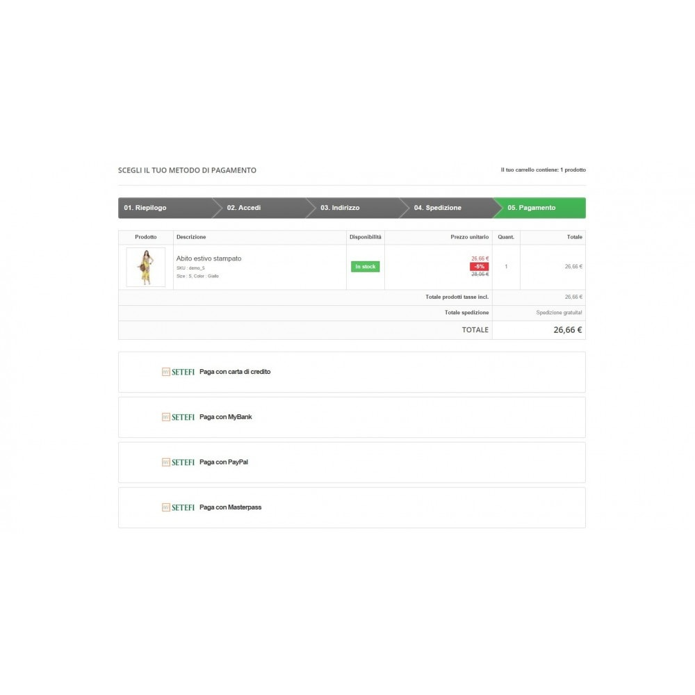 module - Payment by Card or Wallet - Commerceweb Intesa Sanpaolo gateway Monetaweb - 3