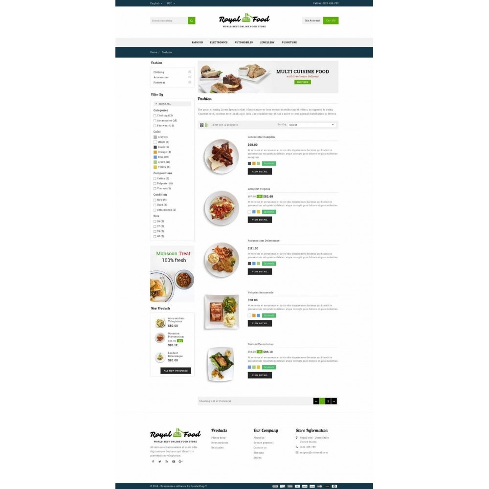 theme - Alimentos & Restaurantes - Food and Restaurant Store - 4
