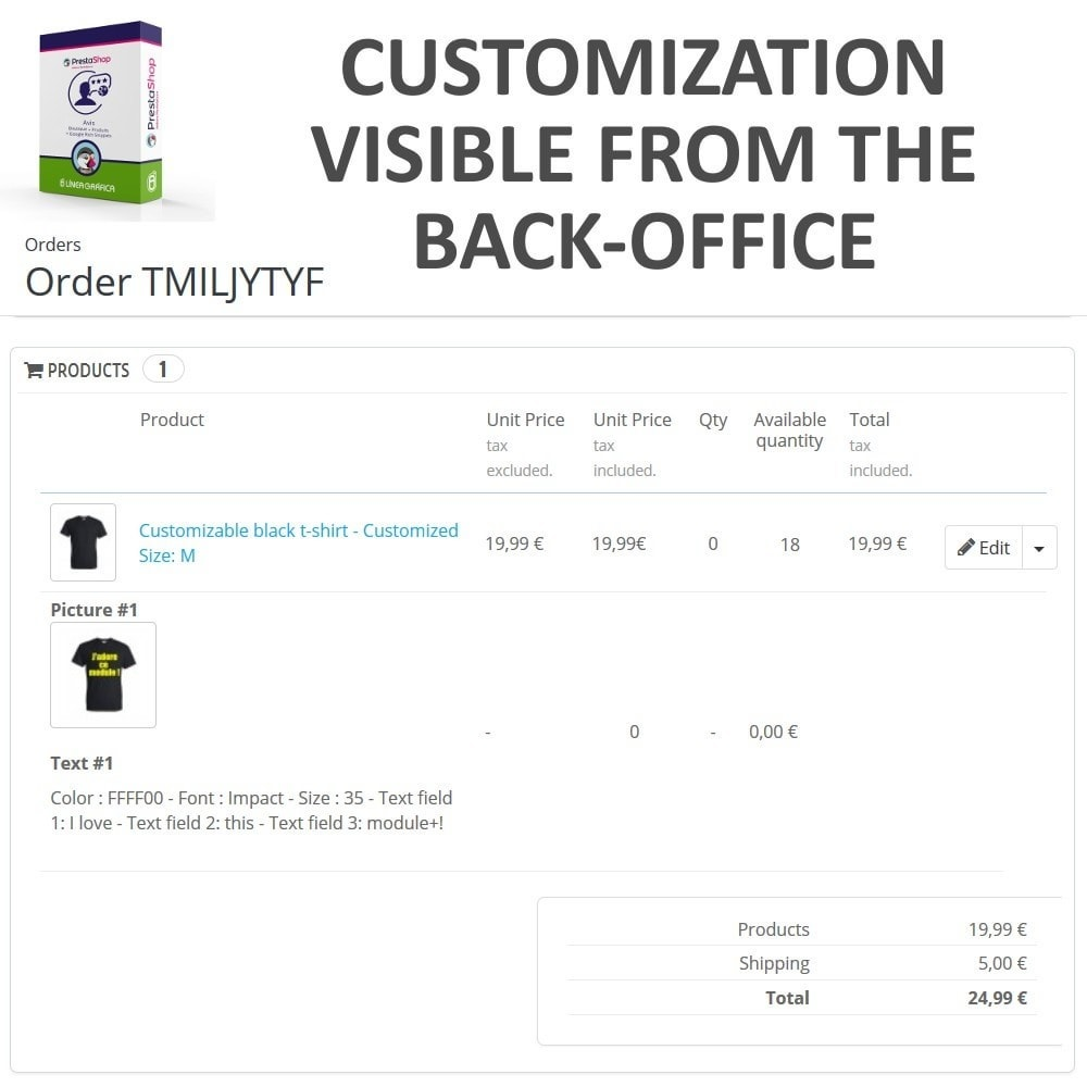 module - Combinations & Product Customization - Product Customization - Add Text over the Product Image - 8
