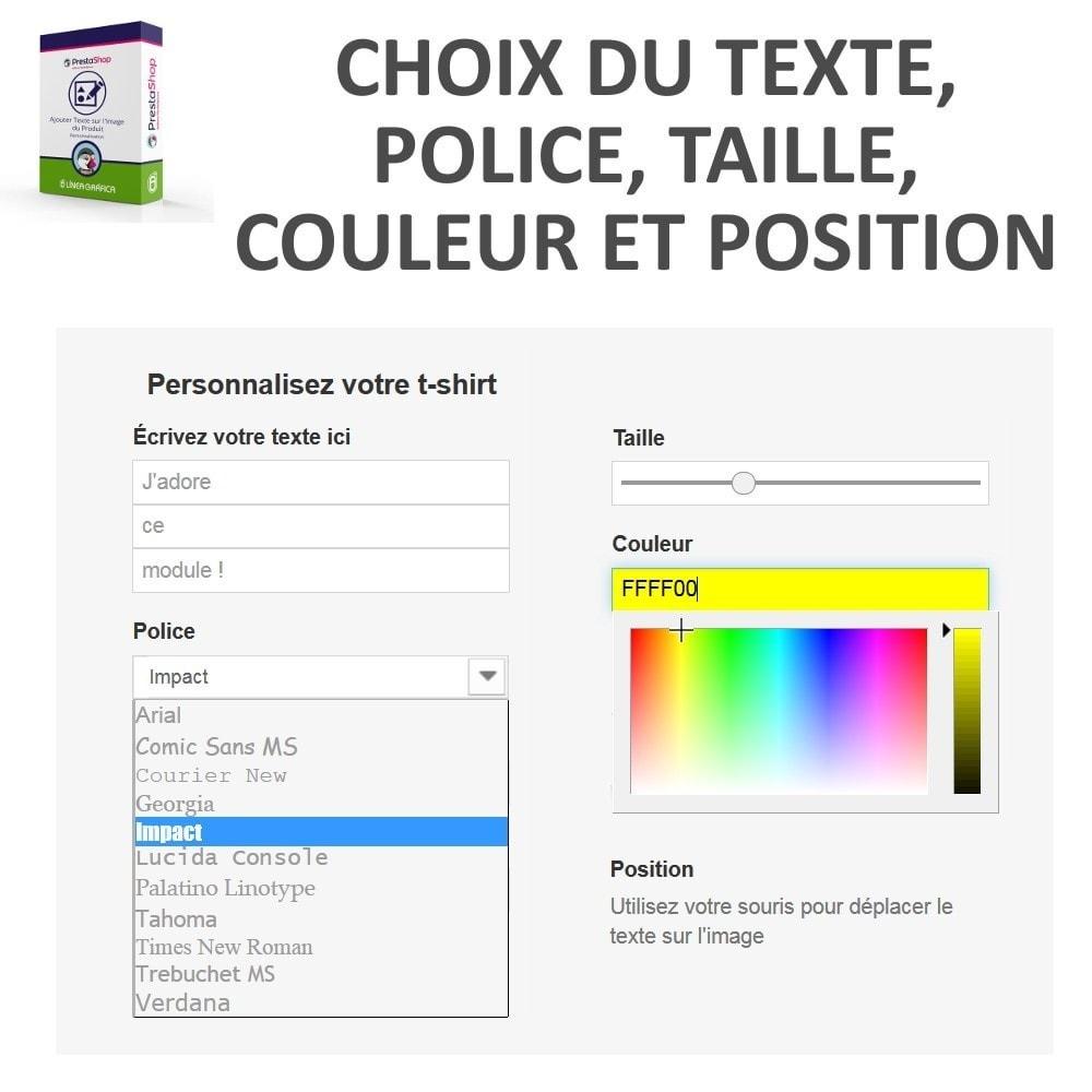 module - Déclinaisons & Personnalisation de produits - Personnalisation Produit - Ajouter du Texte sur l'Image - 3