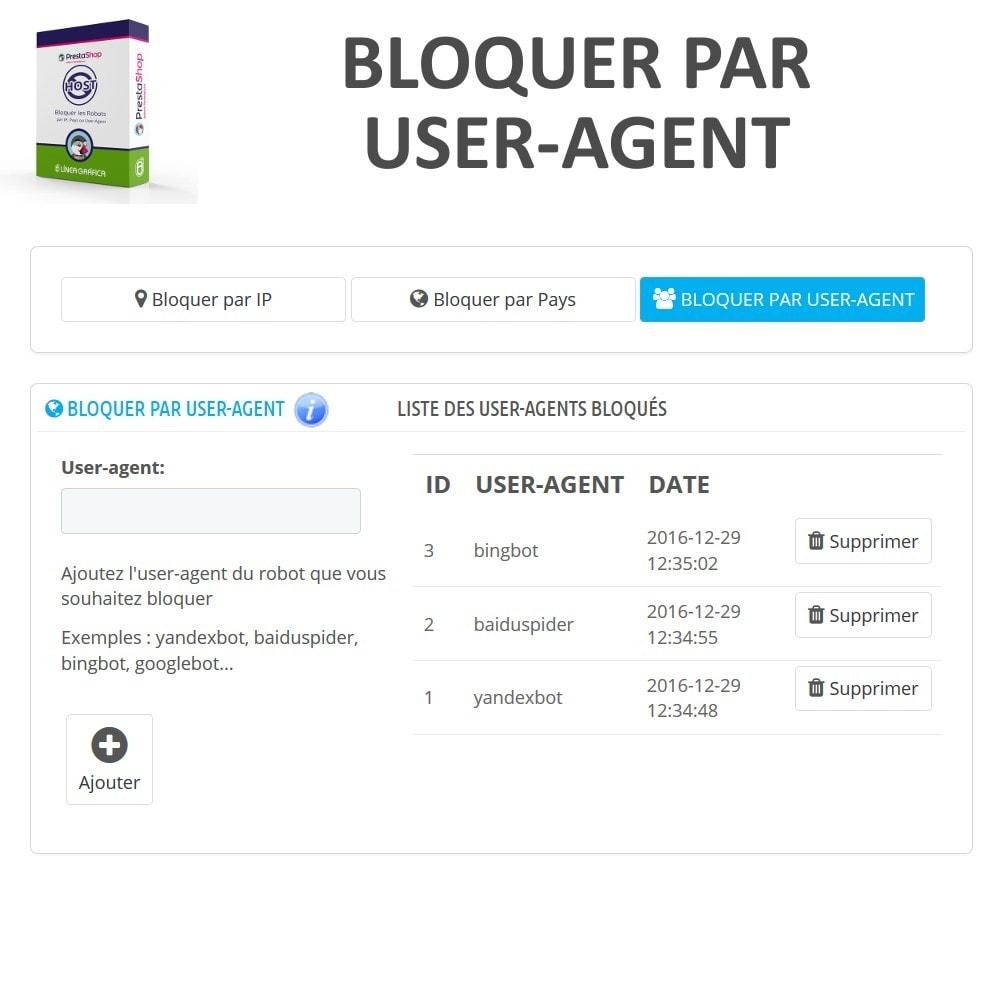 module - Sécurité & Accès - Bloquer Robots / Utilisateurs par IP, Pays, User-Agent - 4
