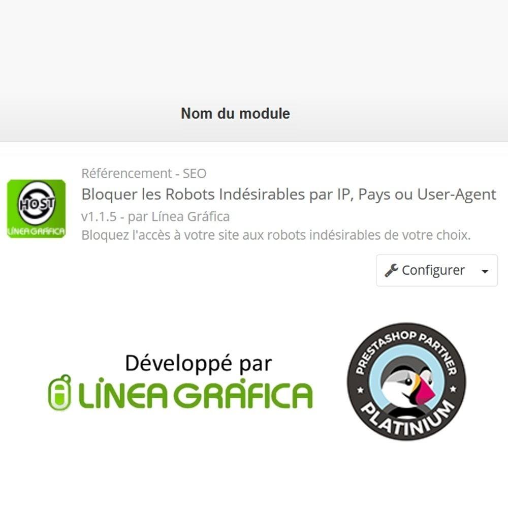 module - Sécurité & Accès - Bloquer Robots / Utilisateurs par IP, Pays, User-Agent - 6