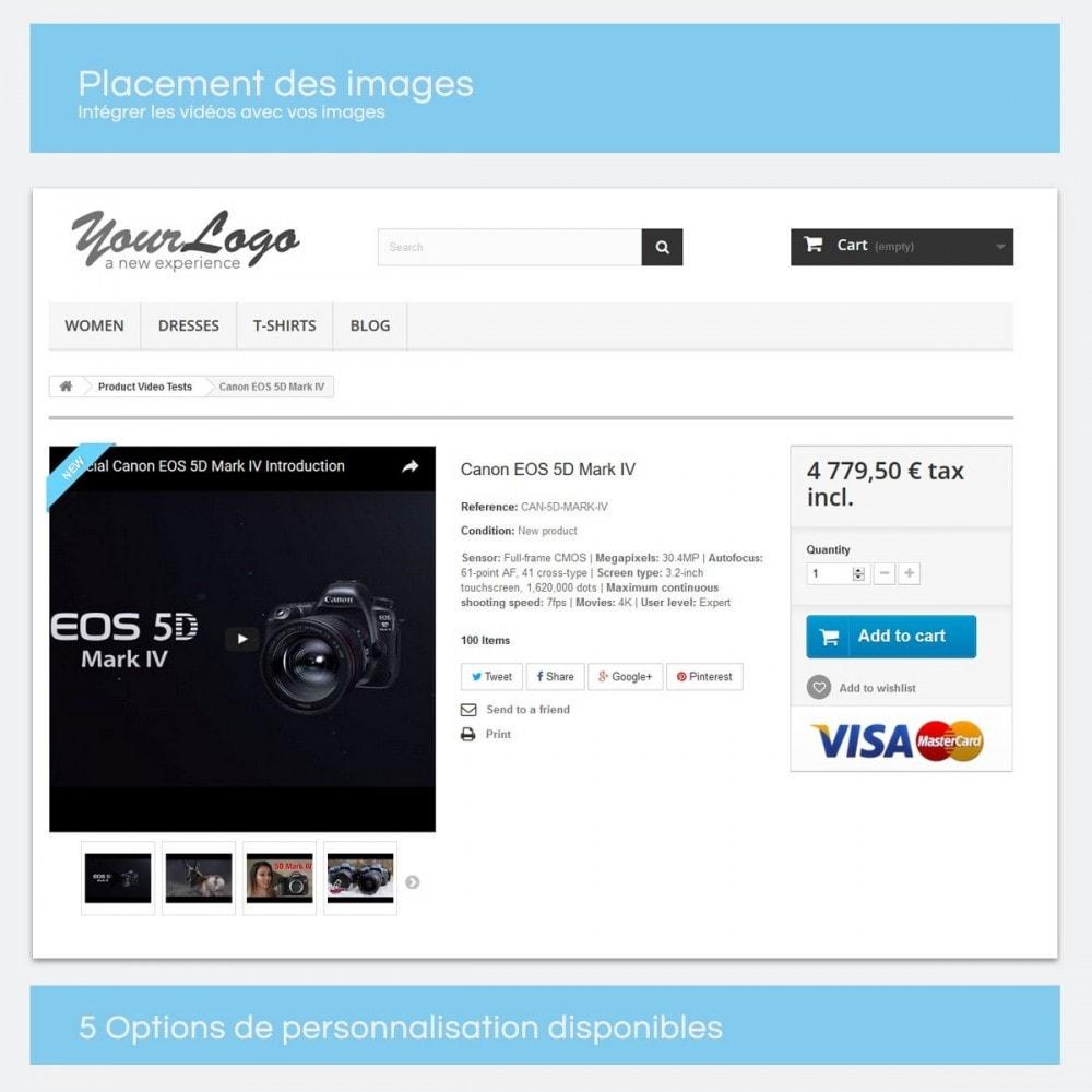 module - Vidéo & Musique - Vidéos pour les produits - Youtube, Vimeo... - 2