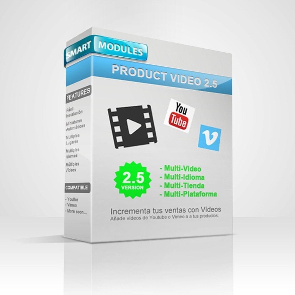 module - Vídeos y Música - Videos para Productos - Youtube, Vimeo... - 1