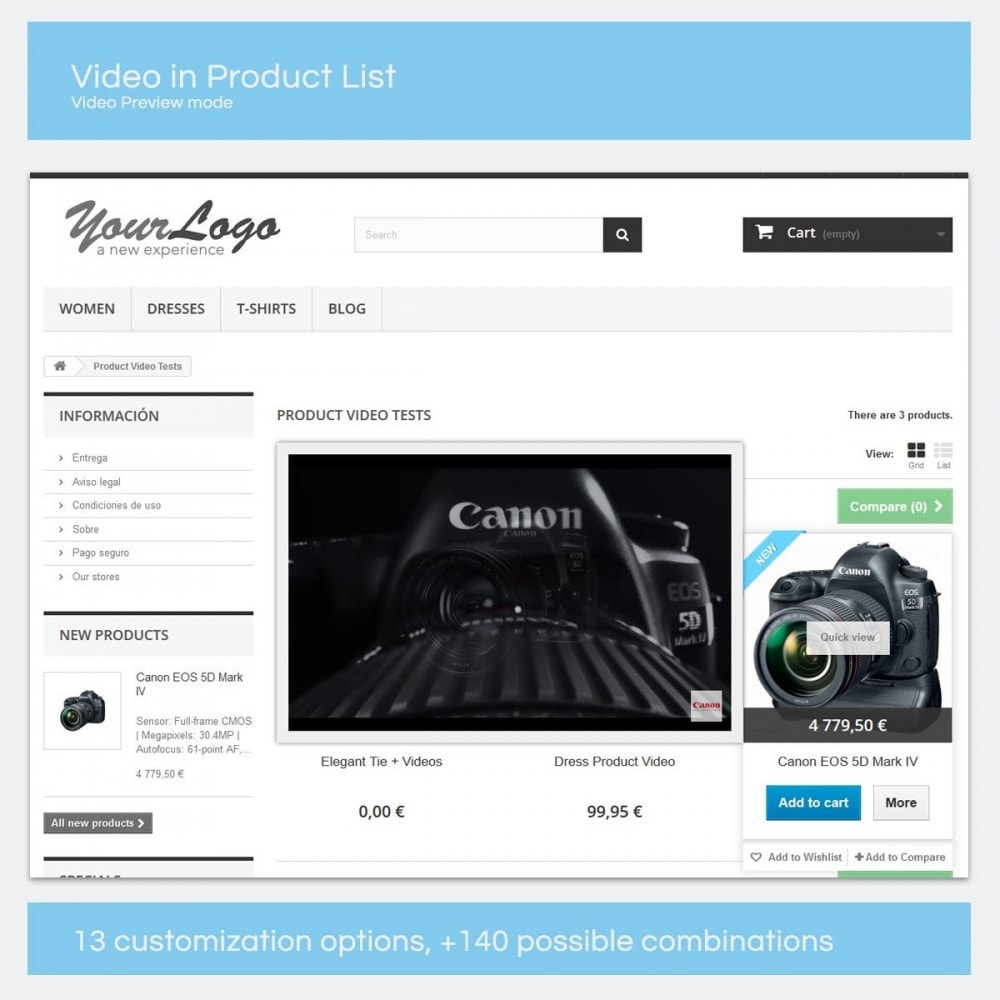 module - Videos & Music - Product Videos - Youtube, Vimeo... - 8