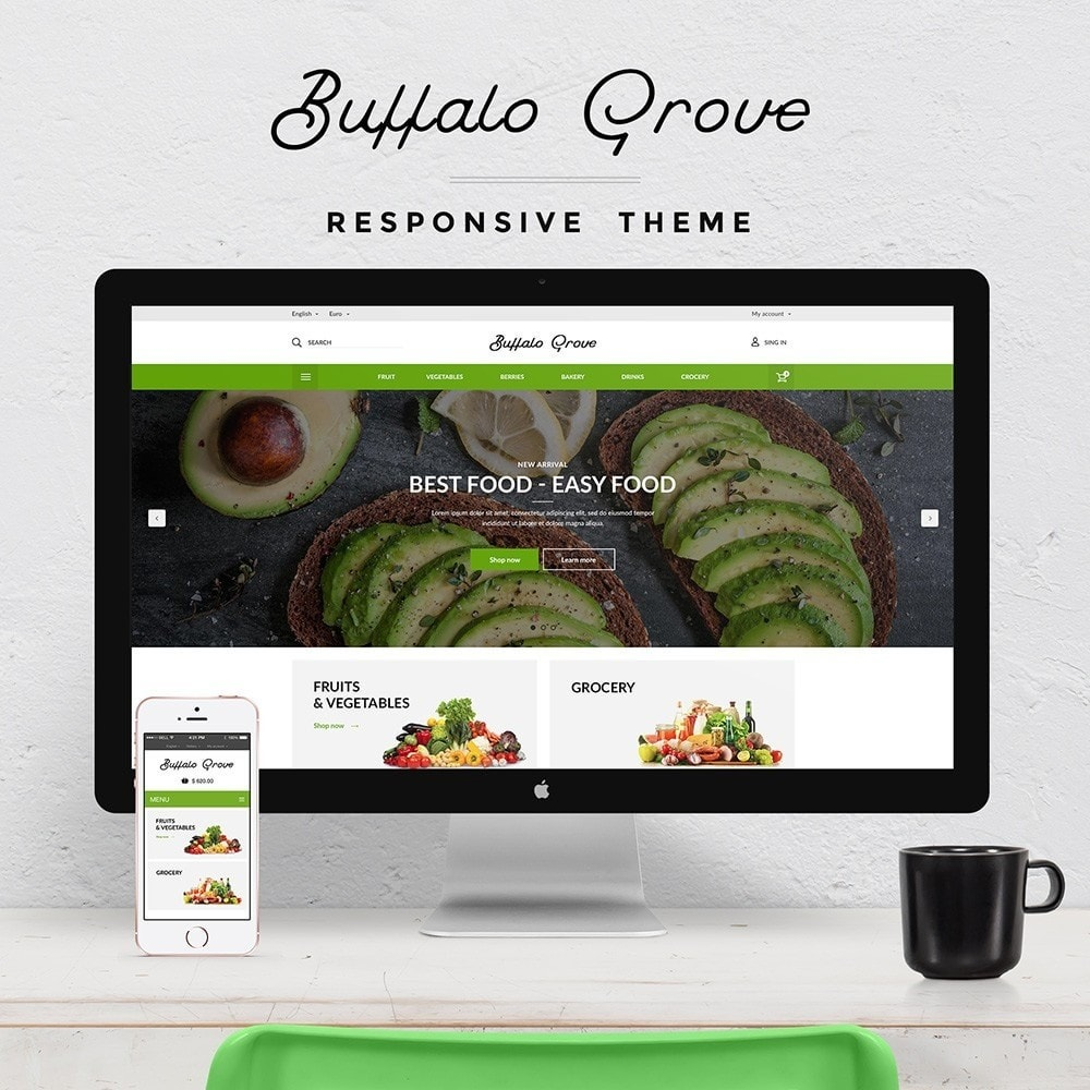 theme - Продовольствие и рестораны - Buffalo Grove Food market - 1