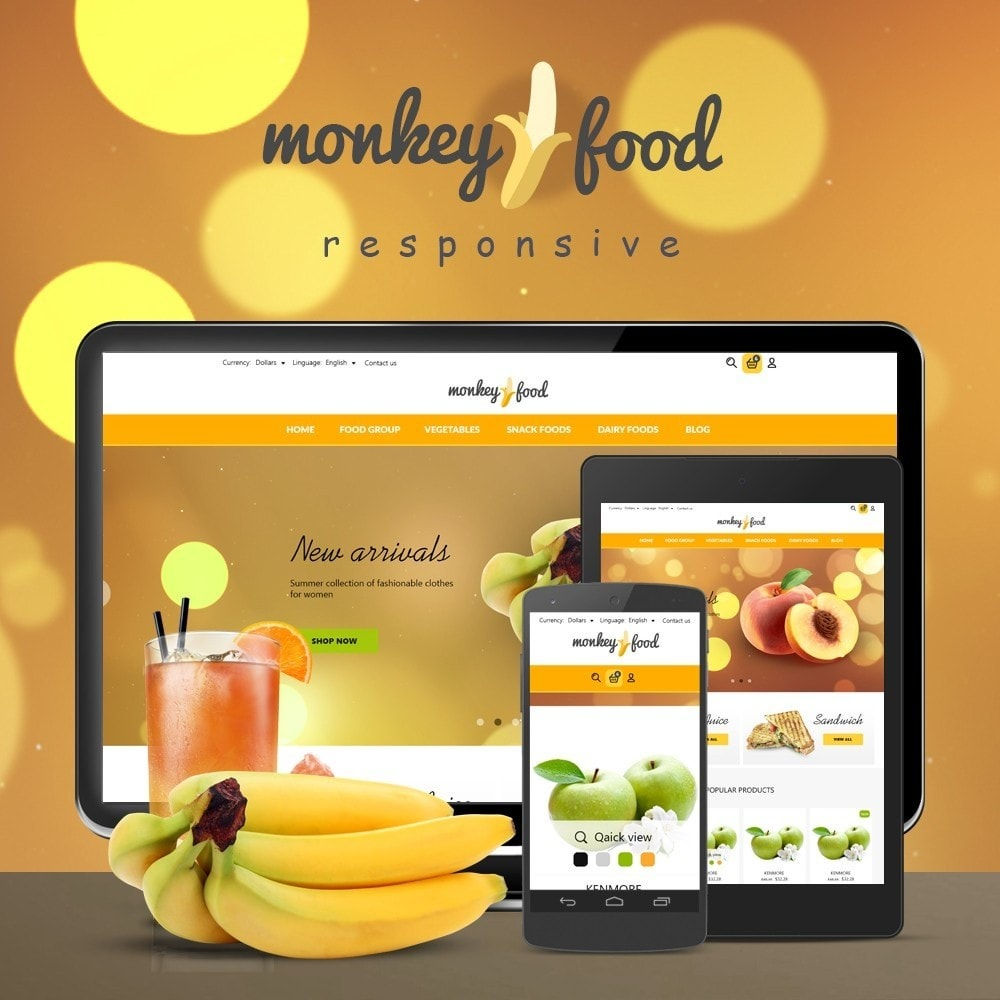 theme - Alimentos & Restaurantes - Monkey Food Market - 1