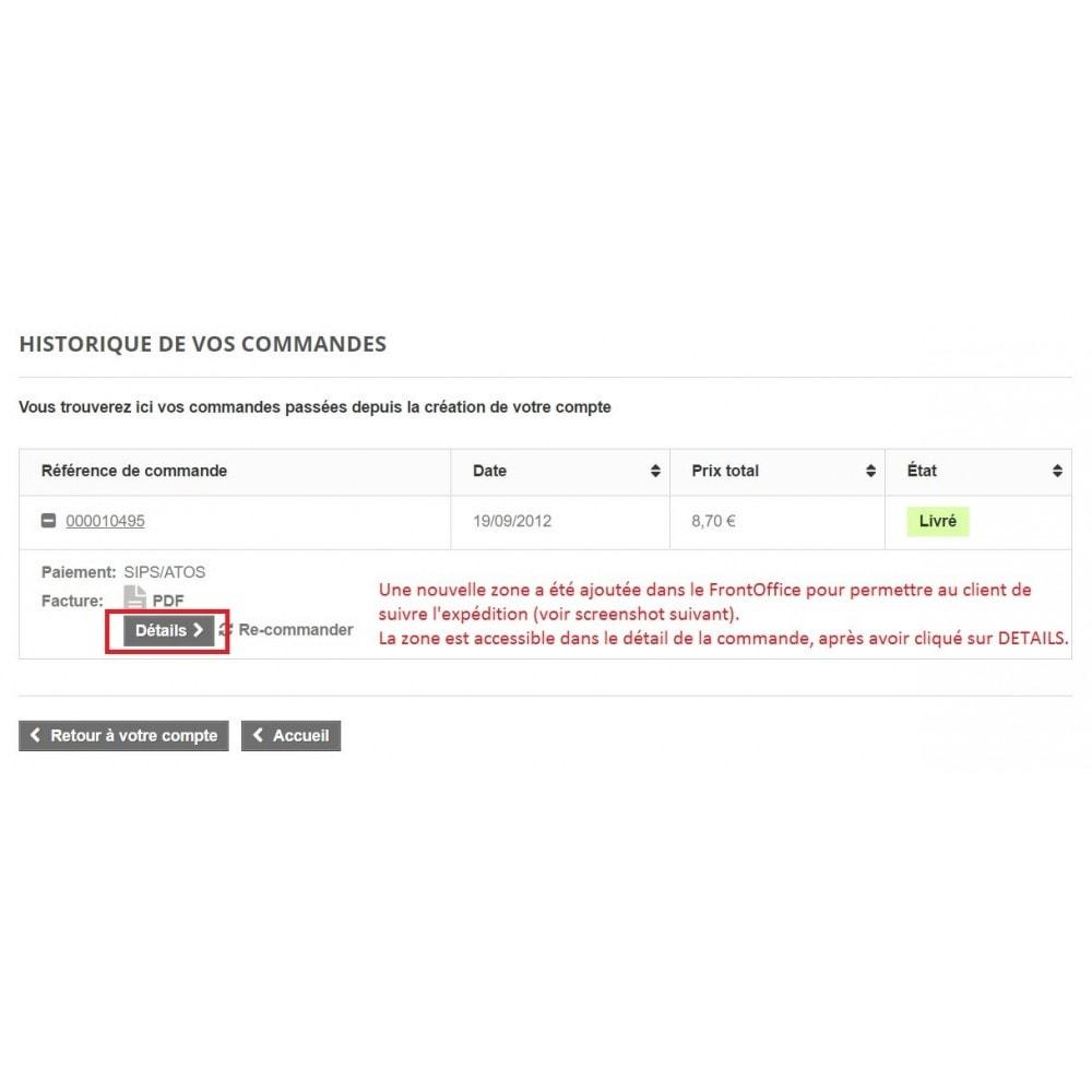 module - Suivi de livraison - Suivi livraisons Colissimo / Chronopost / Mondial Relay - 2