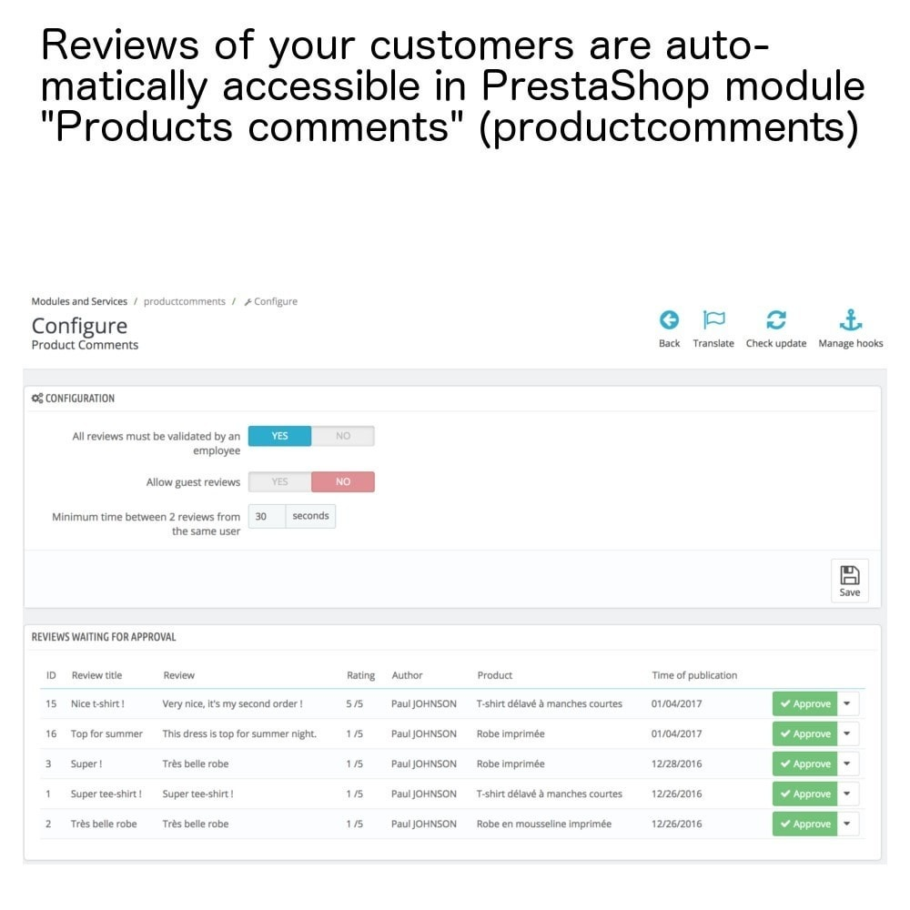 module - Kundenbewertungen - Products reviews in only one page and e-mails ! - 6