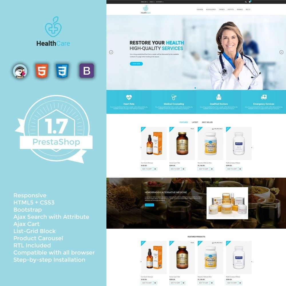 theme - Health & Beauty - Health Care Store - 1