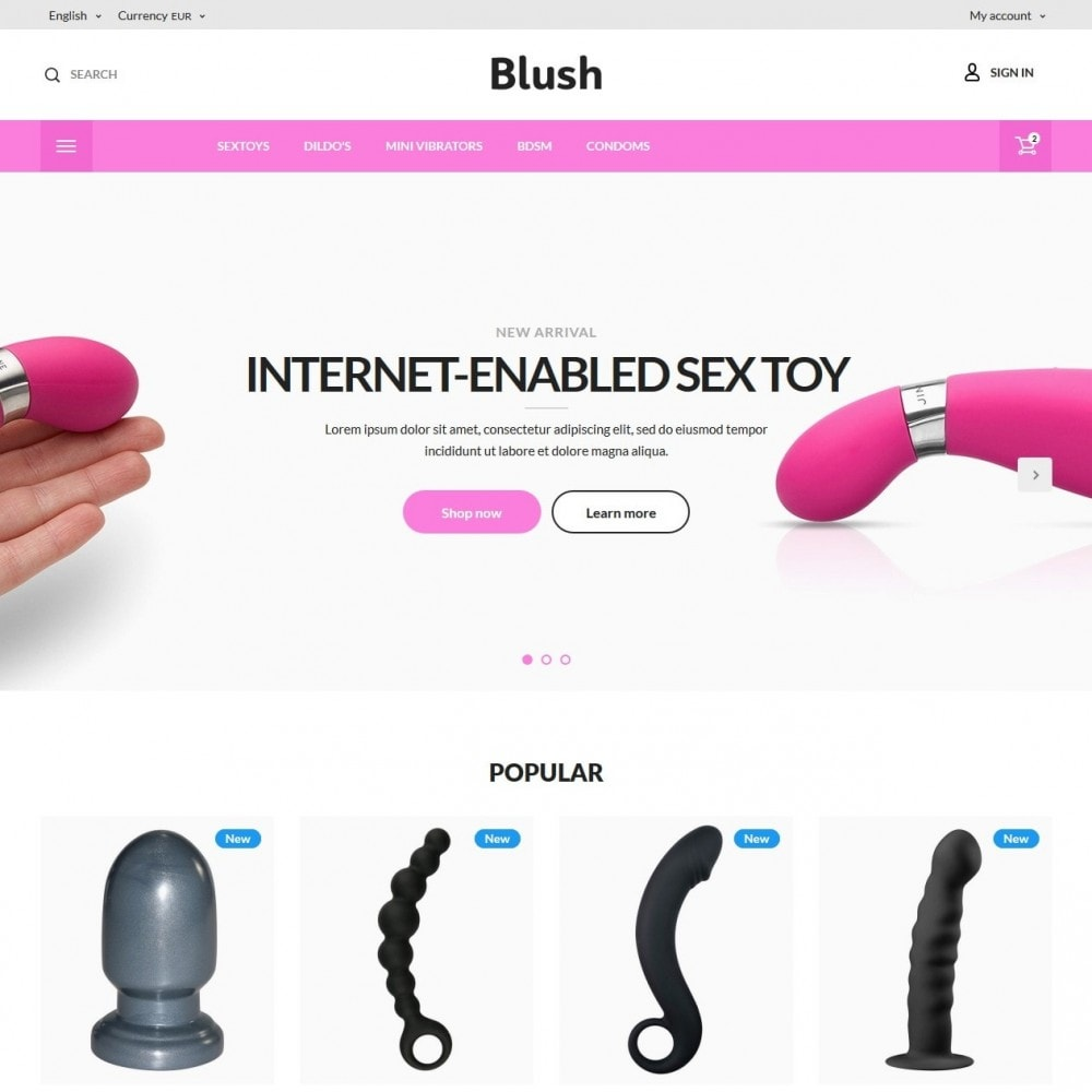 theme - Lenceria y Adultos - Blush - Sex Shop - 2