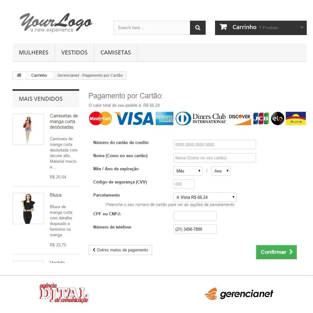 module - Zahlung per Kreditkarte oder Wallet - Brazilian payment via Gerencianet - 3