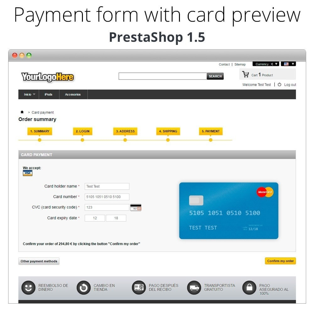 module - Kassensystem (POS) - Manual Credit Card Processing - Offline payment - 26