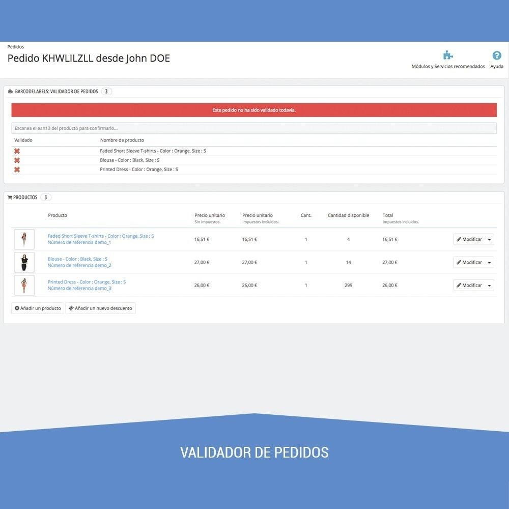 module - Preparación y Envíos - Etiquetas para productos EAN13 UPC - 13