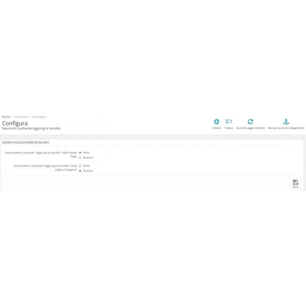 module - Iscrizione e Processo di ordinazione - Nascondi il bottone Aggiungi al carrello - 3