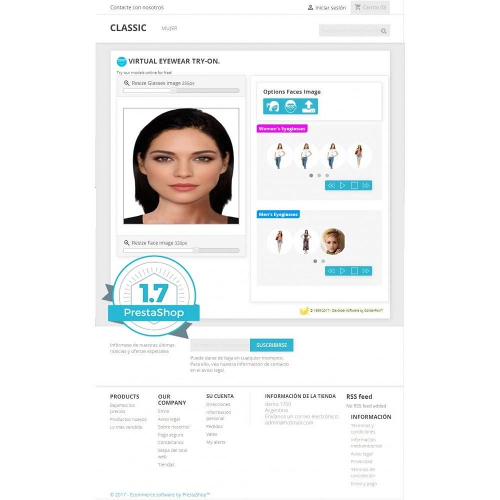 module - Productos Digitales (de descarga) - Probador virtual de anteojos on-line - 2