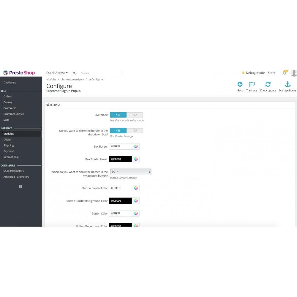 module - Gestion des clients - Popup login - 3