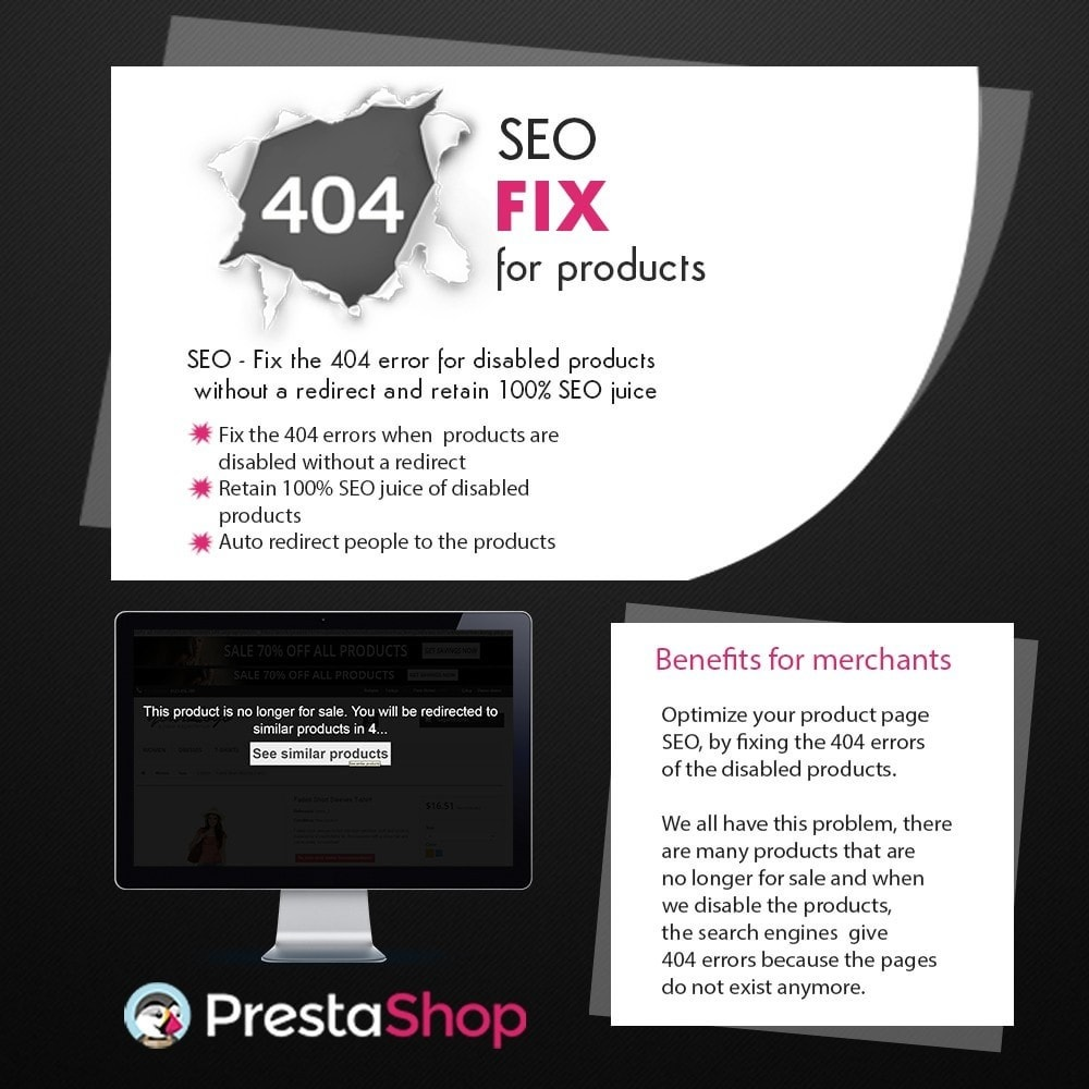 module - Gestão de URL & Redirecionamento - SEO - 404 Fix for Products - 1