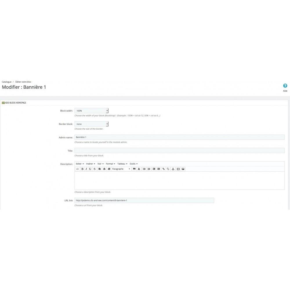 module - Page Customization - Customize Homepage - 6