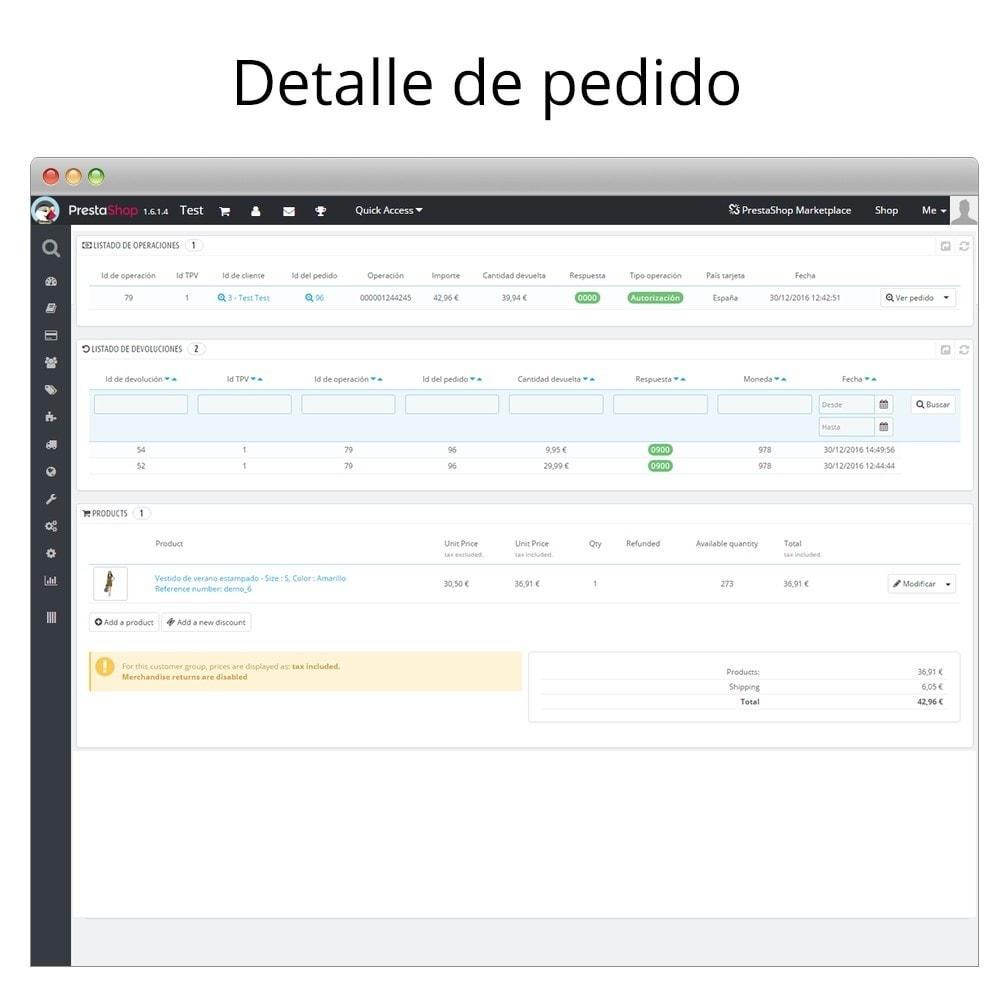 module - Pago con Tarjeta o Carteras digitales - Redsys Insite pago tarjeta y gestión de devoluciones - 6