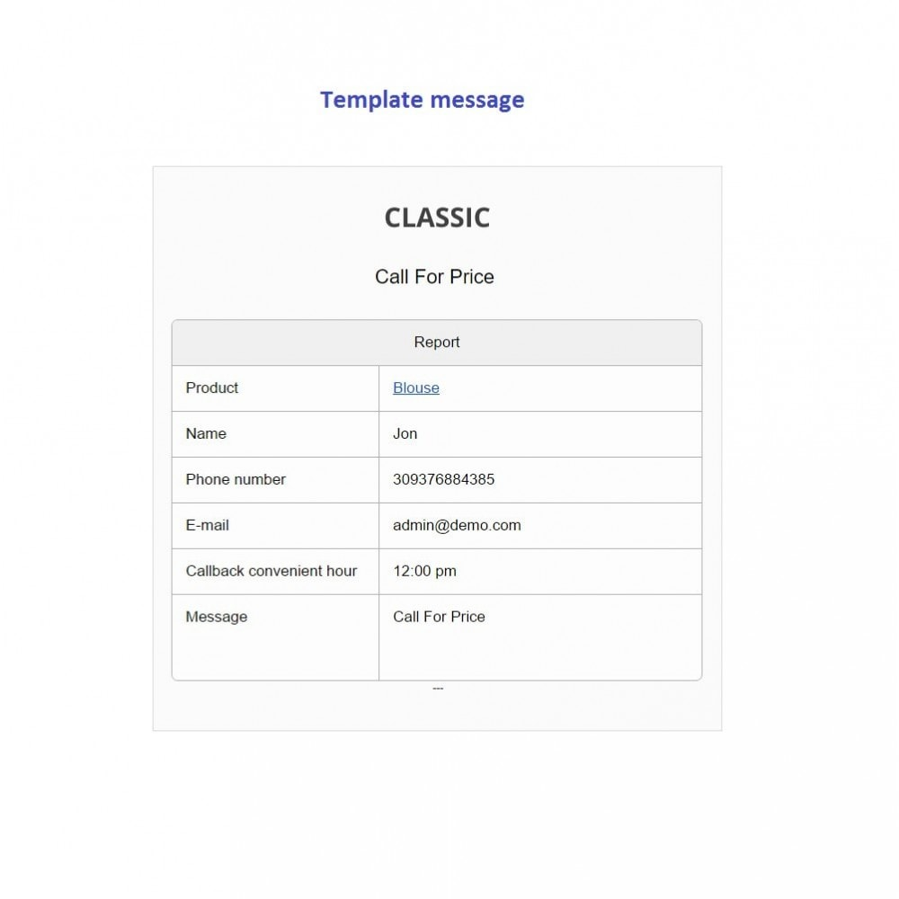 module - Suporte & Chat on-line - Call For Price + Call Back Product Button - 7