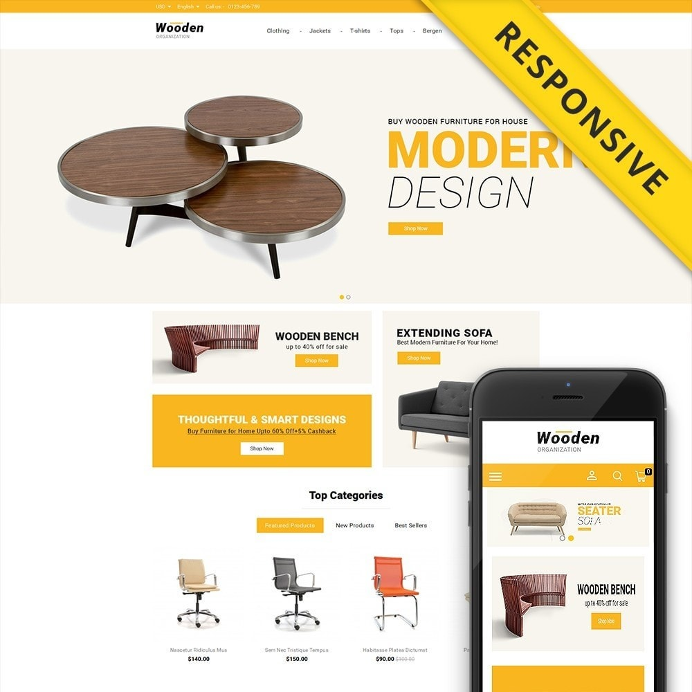theme - Casa & Giardino - Wooden Furniture online Store - 1