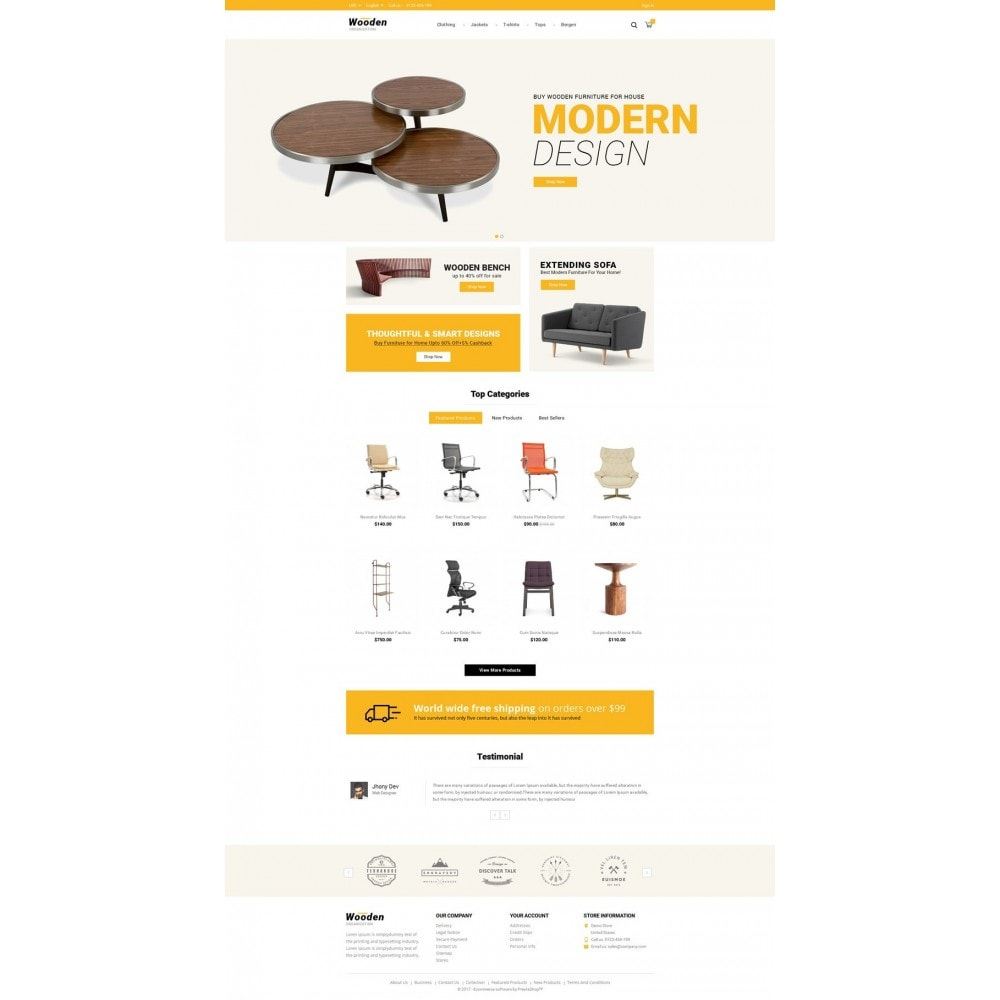theme - Casa & Giardino - Wooden Furniture online Store - 2
